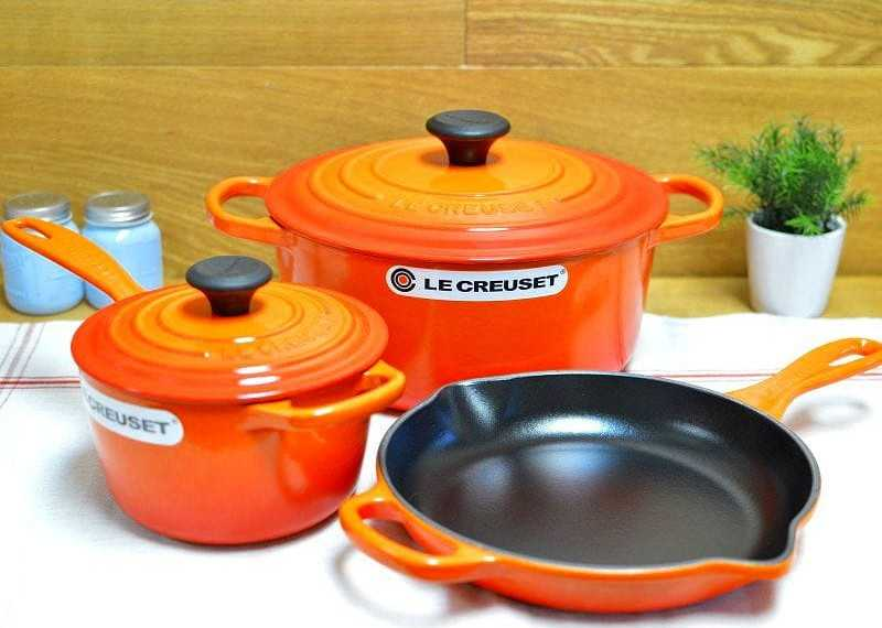 Le Creuset make popular enamel-coated pans
