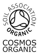 The Soil Association COSMOS Organic Logo is awarded when at least 95% of ingredients are organic